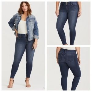 Torrid Hi Rise Three Button Skinny Jeans